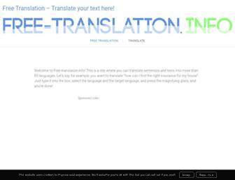 free-translation.info screenshot