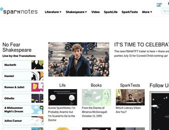 Thumbshot of Sparknotes.com