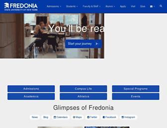 fredonia.edu screenshot