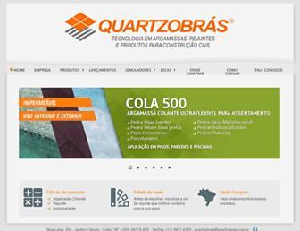 quartzobras.com.br screenshot