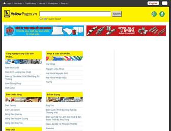 Main page screenshot of yellowpages.vn