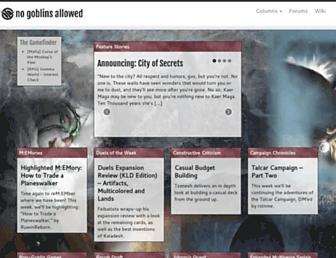 nogoblinsallowed.com screenshot