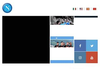 Main page screenshot of sscnapoli.it