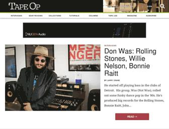 tapeop.com screenshot