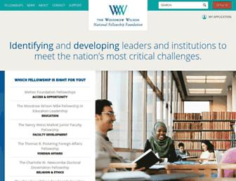 Main page screenshot of woodrow.org
