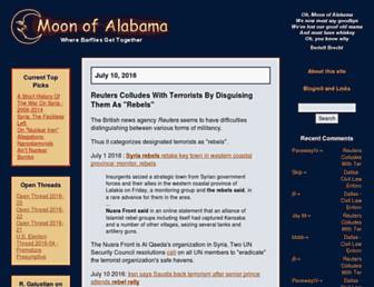 Main page screenshot of moonofalabama.org