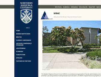 Main page screenshot of wrhc.nau.edu