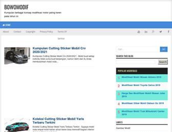bowomodif.blogspot.com screenshot