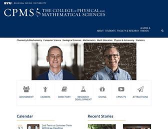 Main page screenshot of cpms.byu.edu