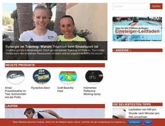 Main page screenshot of triathlon-tipps.de