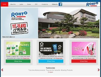 in.rohto.com screenshot