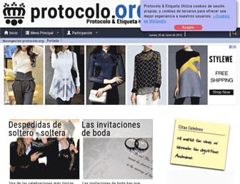Main page screenshot of protocolo.org