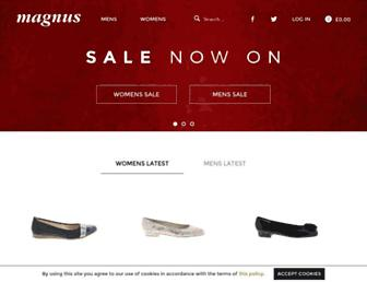 magnusshoes.com screenshot
