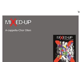 Main page screenshot of mixed-up.ch