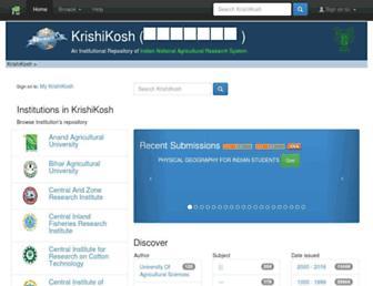 krishikosh.egranth.ac.in screenshot