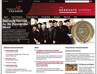 grad.uc.edu screenshot