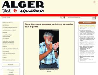 alger-republicain.com screenshot