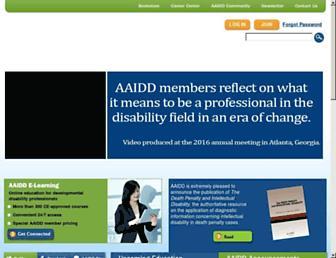 Main page screenshot of aamr.org