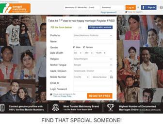 bengalimatrimony.com screenshot