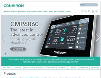 conviron.com screenshot
