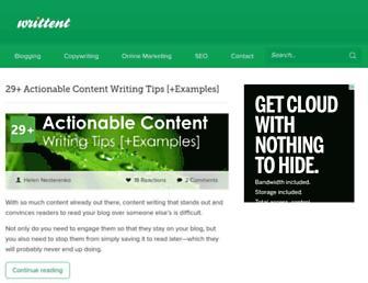 writtent.com screenshot
