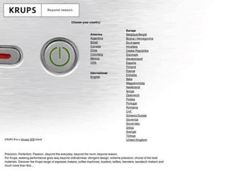 krups.com screenshot