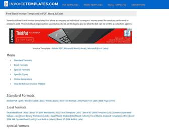 invoicetemplates.com screenshot