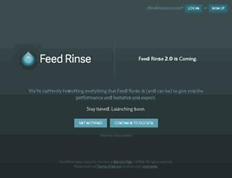 feedrinse.com screenshot