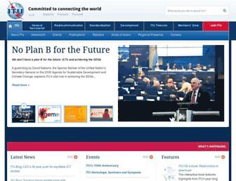 Main page screenshot of itu.int