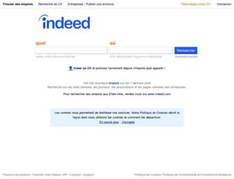 Main page screenshot of indeed.fr