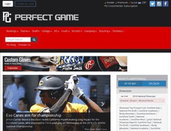 Thumbshot of Perfectgame.org