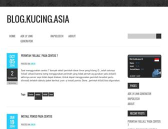 blog.kucing.asia screenshot
