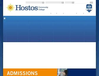 hostos.cuny.edu screenshot