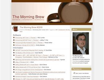 Main page screenshot of blog.cwa.me.uk