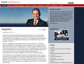 Main page screenshot of bjorn.is