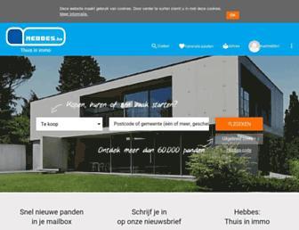 Main page screenshot of hebbes.be