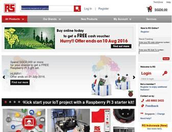 sg.rs-online.com screenshot