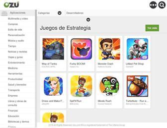 Main page screenshot of ozu.es