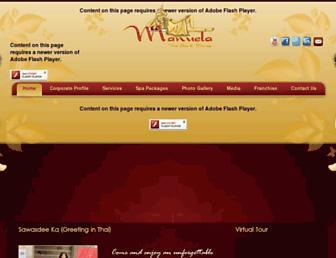 manuelathaispa.com screenshot