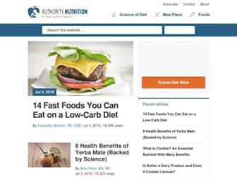 Thumbshot of Authoritynutrition.com