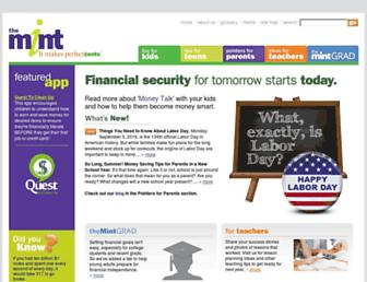 Main page screenshot of themint.org
