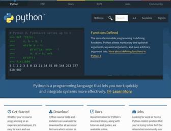 Thumbshot of Python.org