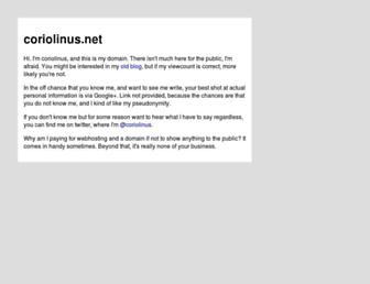 Main page screenshot of coriolinus.net