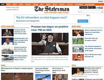 Main page screenshot of thestatesman.net