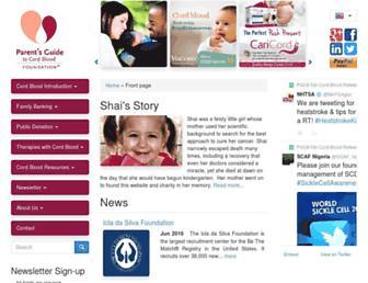 parentsguidecordblood.org screenshot