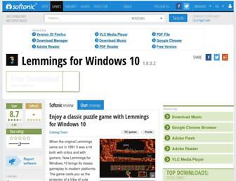 lemmings.en.softonic.com screenshot