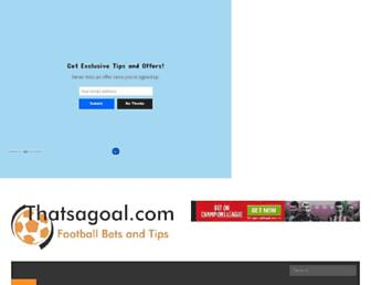 thatsagoal.com screenshot