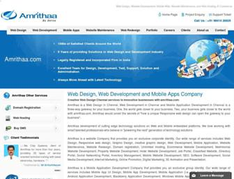 amrithaa.com screenshot