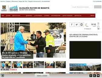Thumbshot of Bogota.gov.co
