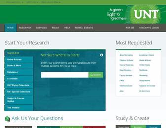 library.unt.edu screenshot